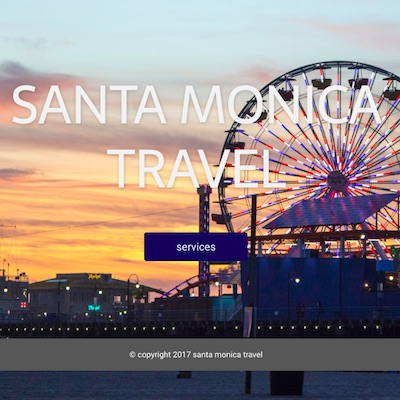 Tumbnail of Santa Monica Travel website.