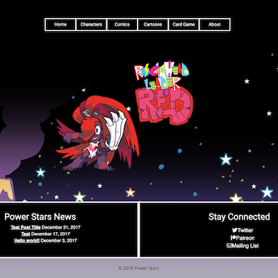 Tumbnail of Power Stars website.